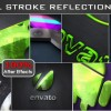 Stroke Metal Reflection Logo