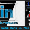 Social Media Icons - 30 Pack