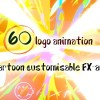 60 Quick Cartoon Logo Reveal Pack &128 Cartoon FX in 9 Packs