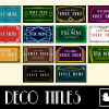 20 Art Deco Titles