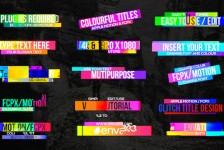 Colourful Glitch Titles 2