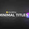Color full Minimal Titles