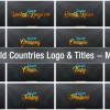 201 World Countries Logo & Titles - Mega Pack
