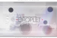 Droplet Circles Parallax Slideshow