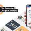 Flat Animated Design Concepts