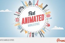 Flat Animated World Cities