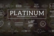 Platinum | Wedding Titles Pack