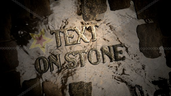 Text On Paving Stone