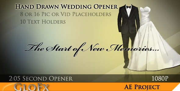 Hand Drawn Wedding Opener