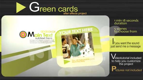 Green Cards After Effects Project