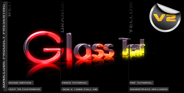 3D Crystal Glass Text - Audio Driven Illuminated