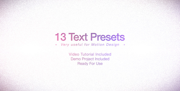 Text Presets Pack