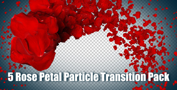 5 Rose Petal Particle Transition Pack