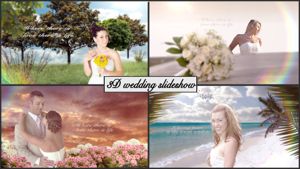 3D Wedding slideshow