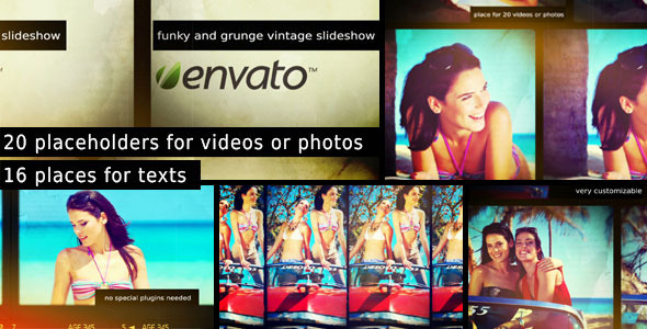 Funky and Grunge Vintage Slideshow