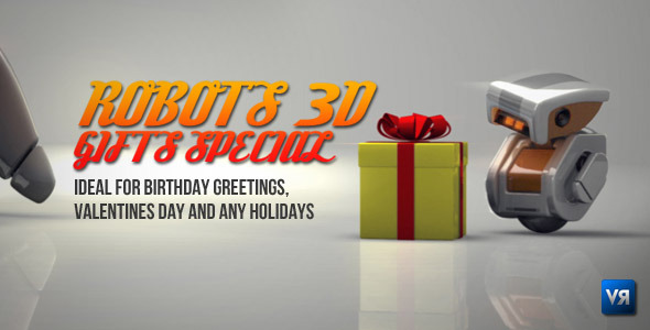 Robots 3D gifts special