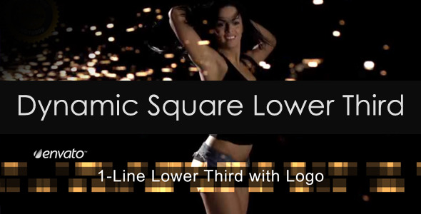 Dynamic Square Lower Third