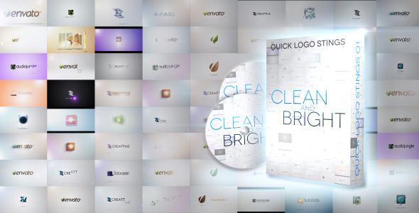 Quick Logo Sting Pack 01: Clean & Bright