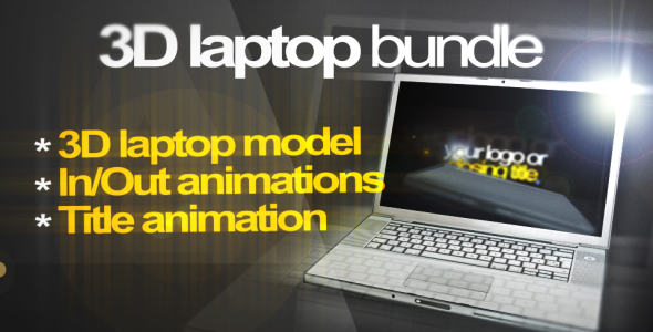 3D Laptop animation bundle