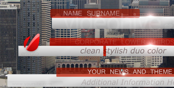 Bussines, News Lower Third Pack full HD