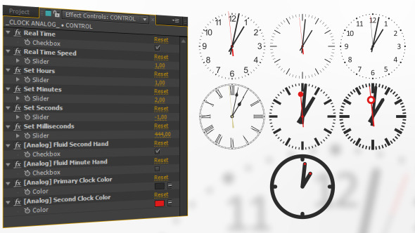 Analog Watch Clock System