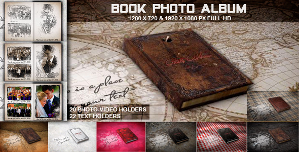 Book Photo Album - After Effects Project (Videohive)
