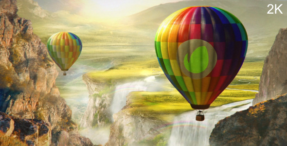 Colourful World - Hot Air Balloon Logo