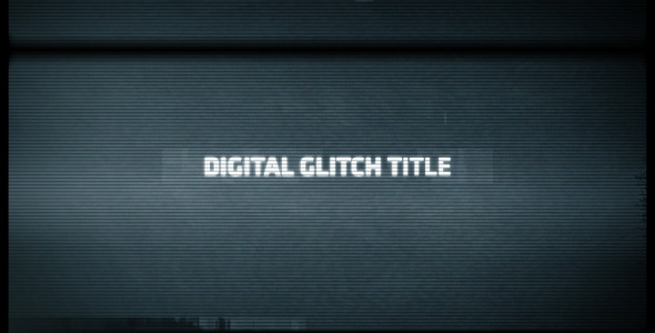 Digital Glitch Title