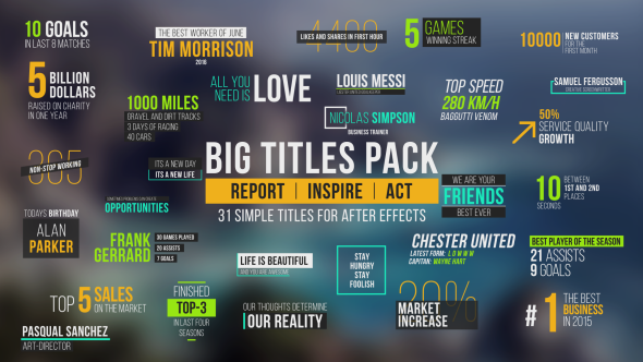 Big Titles Pack