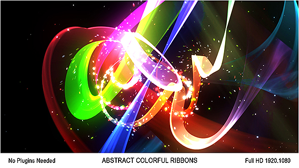 Abstract Colorful Ribbons Logo