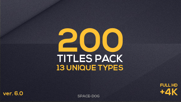 200 Titles Pack (13 unique types)