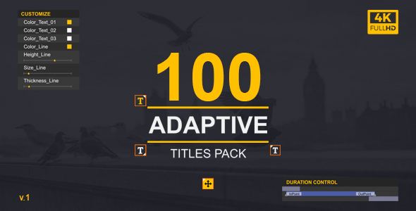 MoType | Adaptive Titles Pack