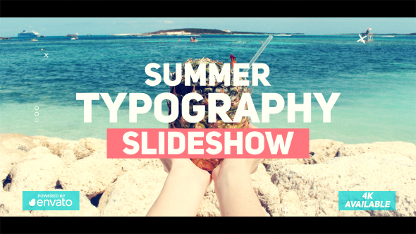Summer Typography Slideshow
