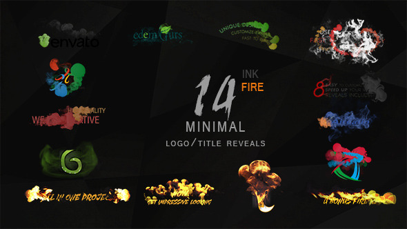 Minimal Ink&fire Logo/Title Reveals Package