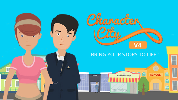 Explainer Video ToolKit : Character City V4