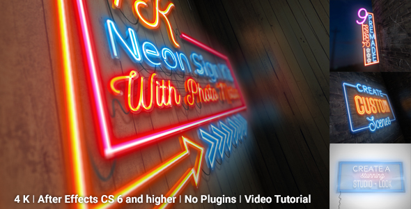 Neon Sign Kit With Photo Motion