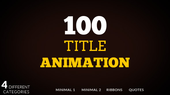 100 Title animation