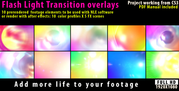 Flash Light Transition Overlay Lense Pack