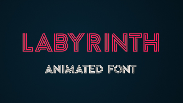 Labyrinth Animated Font