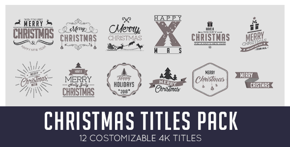 Christmas Titles Pack
