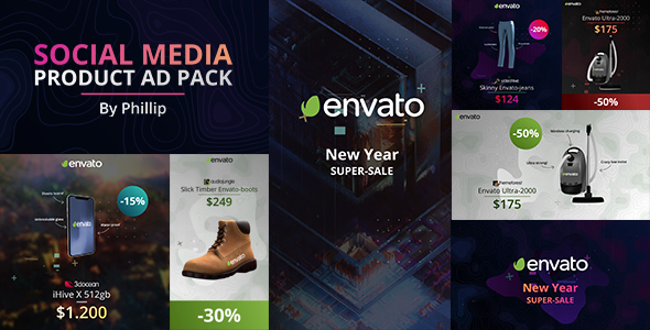 Social media product ad pack