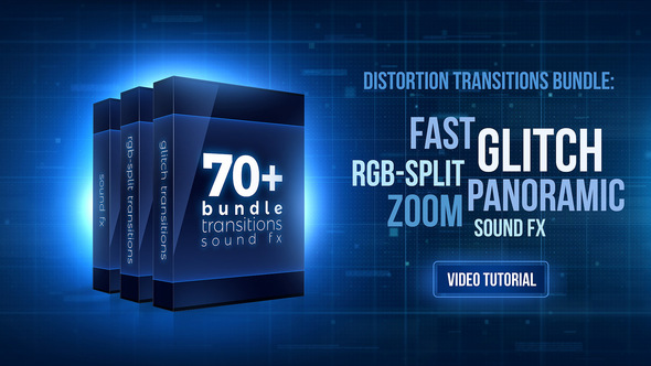 70+ Bundle: Glitch and RGB-split Transitions, Sound FX