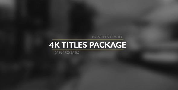 4k Broadcast Titles Package