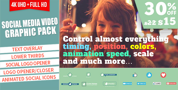 Social Media Video Graphic Pack