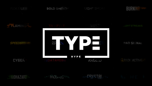 TypeHype - Titles Animation \\ Motion Typography Text