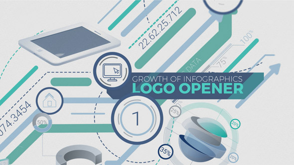 Growth Of Infographics Logo Opener
