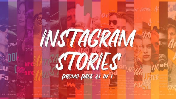 Instagram Stories Promo Pack 21 in 1